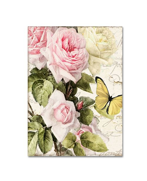 "Trademark Global Color Bakery 'Flora Bella' Canvas Art - 14"" x 2"" x 19"""