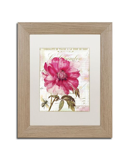 "Trademark Global Color Bakery 'Lepink With Bee' Matted Framed Art - 11"" x 0.5"" x 14"""