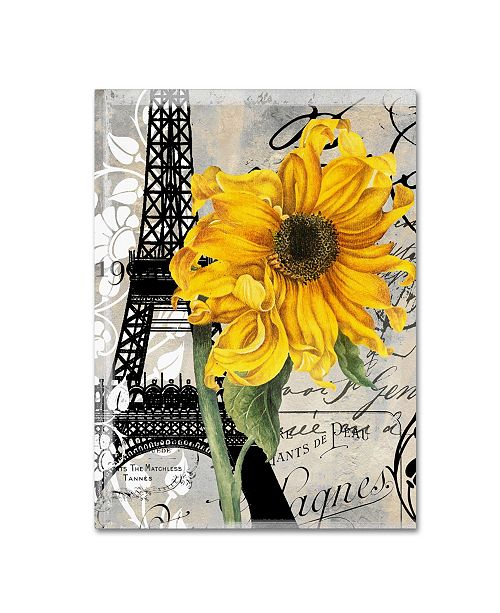 "Trademark Global Color Bakery 'Paris Blanc' Canvas Art - 14"" x 2"" x 19"""