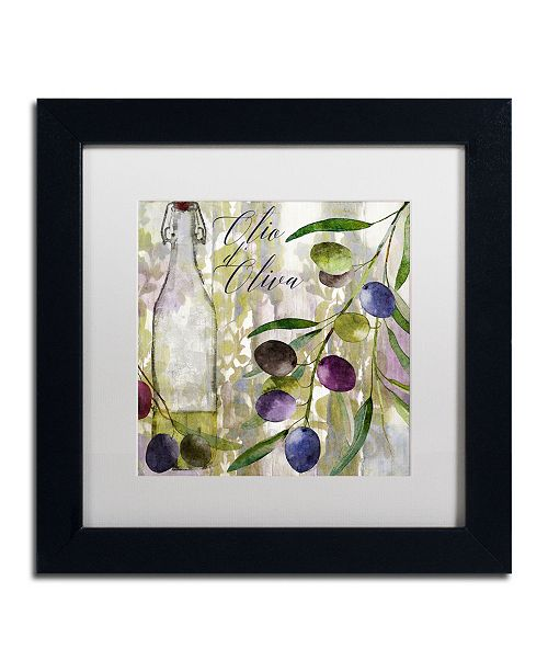 """Trademark Global Color Bakery 'Colors Of Tuscany I' Matted Framed Art - 11"""" x 11"""" x 0.5"""""""