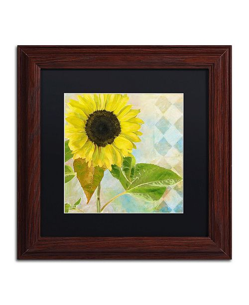"Trademark Global Color Bakery 'Soleil III' Matted Framed Art - 11"" x 0.5"" x 11"""
