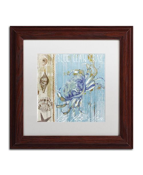 "Trademark Global Color Bakery 'Blue Crab I' Matted Framed Art - 11"" x 0.5"" x 11"""
