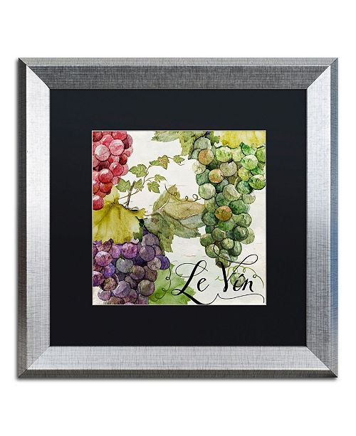 "Trademark Global Color Bakery 'Wines of Paris II' Matted Framed Art - 16"" x 0.5"" x 16"""