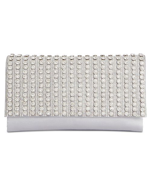 INC International Concepts I.N.C. Veronica Flower Sparkle Clutch, Created for Macy's