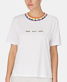 DKNY Pride Rainbow Logo Short-Sleeve Pajama Top