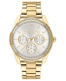 COACH Women's Preston Gold-Tone Bracelet Watch 36mm