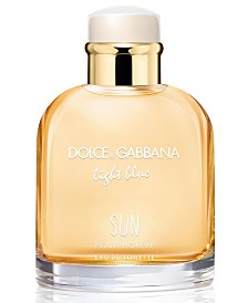 DOLCE&GABBANA Men's Light Blue Sun Eau de Toilette Spray, 4.2-oz.