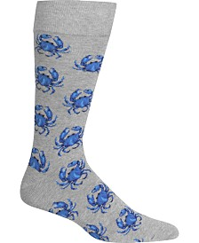 Hot Sox Men's Socks, Crab