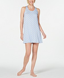 Ultra Soft Keyhole Printed Chemise Nightgown, Created for Macy's