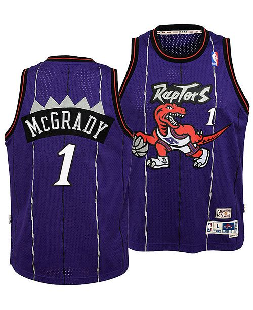 01e3732a9bcb ... adidas Big Boys Tracy McGrady Toronto Raptors Retired Player Swingman  Jersey ...