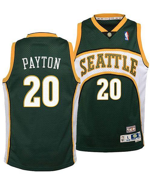 4d3f95865a2 ... adidas Big Boys Gary Payton Seattle SuperSonics Retired Player Swingman  Jersey ...