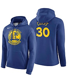 Nike Men's Stephen Curry Golden State Warriors Icon Player Name & Number Essential Hoodie