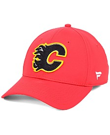 Authentic NHL Headwear Calgary Flames Basic Flex Stretch Fitted Cap