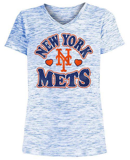 5th & Ocean Big Girls New York Mets Spacedye T-Shirt
