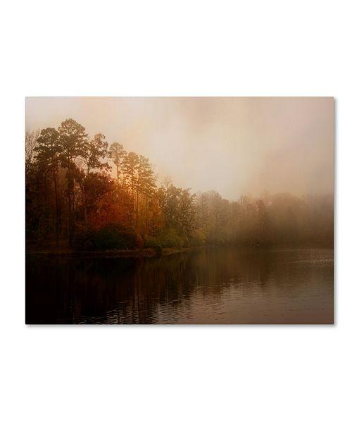 "Trademark Global Jai Johnson 'Foggy Morning At Lake LaJoie' Canvas Art - 47"" x 35"" x 2"""
