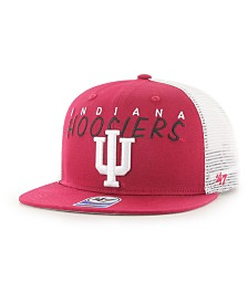 '47 Brand Big Boys Indiana Hoosiers Wordmark Captain Snapback Cap
