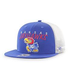 '47 Brand Big Boys Kansas Jayhawks Wordmark Captain Snapback Cap