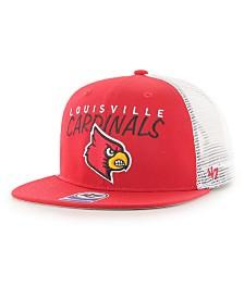'47 Brand Big Boys Louisville Cardinals Wordmark Captain Snapback Cap