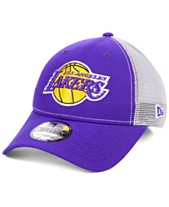 122fd1588fc New Era Los Angeles Lakers Basic Trucker Adjustable 9FORTY Snapback Cap