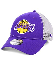 New Era Los Angeles Lakers Basic Trucker Adjustable 9FORTY Snapback Cap