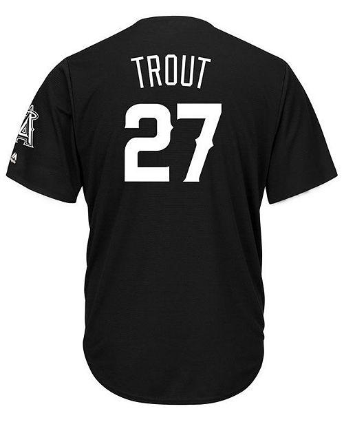 lowest price 2671d 15aae Majestic Men's Mike Trout Los Angeles Angels Black Tux ...