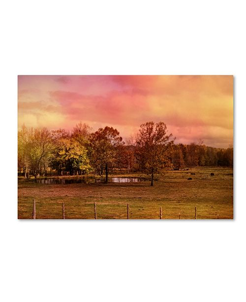 "Trademark Global Jai Johnson 'Autumn At The Cattle Farm' Canvas Art - 47"" x 30"" x 2"""