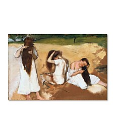 "Degas 'Women Combing Their Hair' Canvas Art - 19"" x 12"" x 2"""