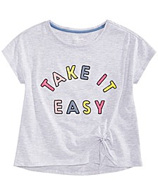 Big Girls Embroidered Side-Tie T-Shirt, Created for Macy's