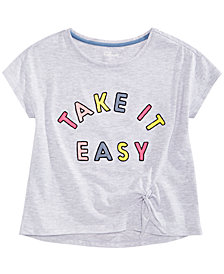 Epic Threads Big Girls Embroidered Side-Tie T-Shirt, Created for Macy's