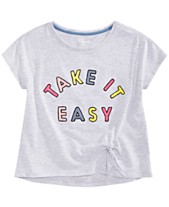 5d38fc50 Epic Threads Big Girls Embroidered Side-Tie T-Shirt, Created for Macy's