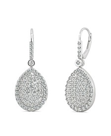 Moissanite Teardrop Earrings (2 ct. t.w Diamond Equivalent) in 14k white gold