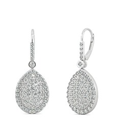 Moissanite Teardrop Earrings (2 ct. t.w Diamond Equivalent) in 14k white gold