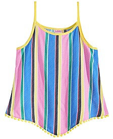 Epic Threads Big Girls Striped Diamond Challis Tank Top, Created for Macy's