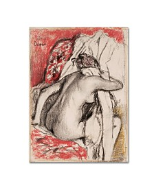 "Degas 'After The Bath 3' Canvas Art - 19"" x 14"" x 2"""