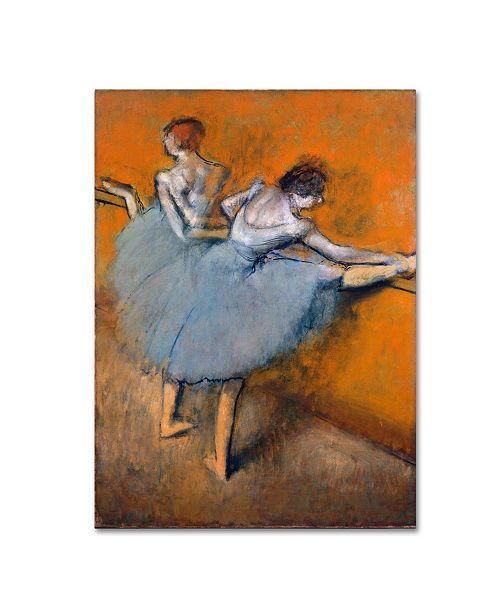 "Trademark Global Degas 'Dancers At The Bar' Canvas Art - 19"" x 14"" x 2"""
