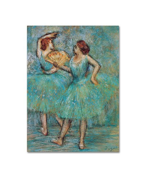 "Trademark Global Degas 'Two Dancers' Canvas Art - 19"" x 14"" x 2"""