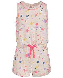 Epic Threads Big Girls Splatter-Print Romper, Created for Macy's