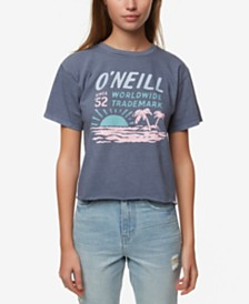 O'Neill Juniors' Cotton Screen-Print T-Shirt