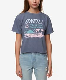O'Neill Juniors' Cotton Screen-Print T-Shirt