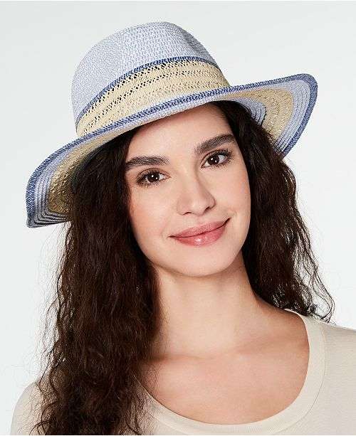 INC International Concepts I.N.C. Packable Raffia Panama Hat, Created for Macy's