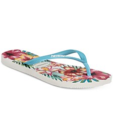 Women's Slim Hibisco Flip-Flop Sandals