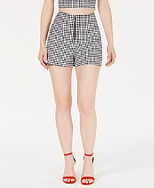Dawn High-Waist Gingham Shorts