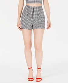 GUESS Dawn High-Waist Gingham Shorts