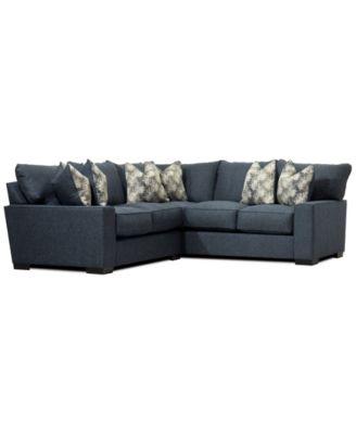 Tuni 2-Pc. Fabric Apartment Sectional Sofa, Created for Macy's