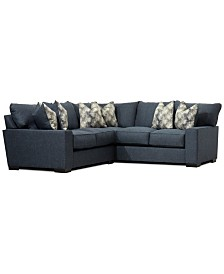 Tuni 2-Pc. Fabric Apartment Sectional Sofa, Created for Macy's