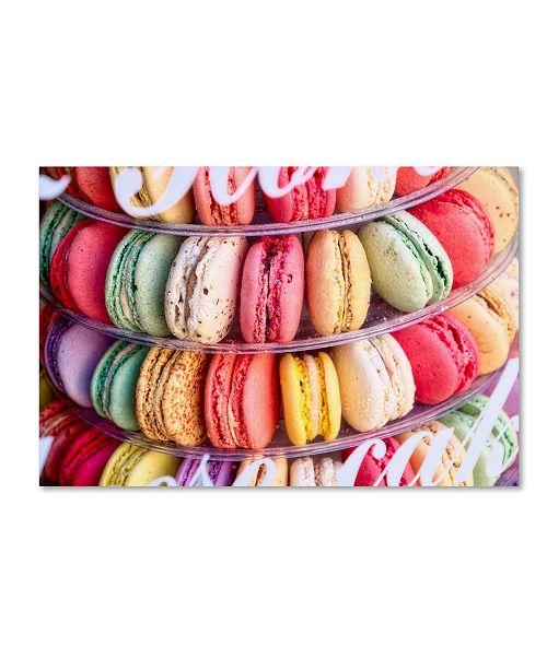 "Trademark Global Cora Niele 'Macarons' Canvas Art - 47"" x 30"" x 2"""
