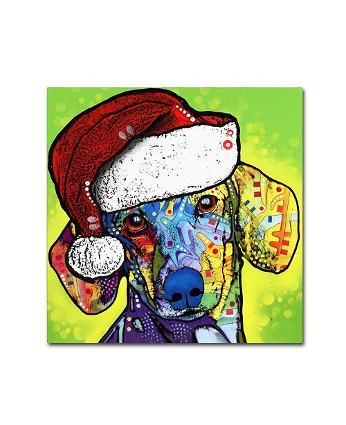 "Trademark Global Dean Russo 'Dachshund Christmas' Canvas Art - 24"" x 24"" x 2"""