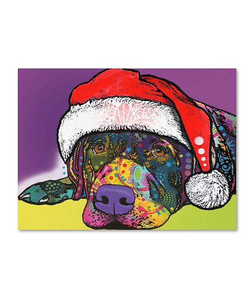 "Trademark Global Dean Russo 'Savvy Labrador Christmas' Canvas Art - 47"" x 35"" x 2"""