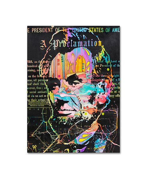 "Trademark Global Dean Russo 'Abe's Proclamation' Canvas Art - 32"" x 24"" x 2"""