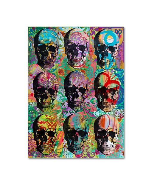 "Trademark Global Dean Russo '9 Skulls' Canvas Art - 47"" x 35"" x 2"""